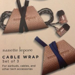 "Nanette Lepore Bags - Nanette Lapore 3 ""Cable-Wraps"" Gold+Blu, Blk, Tan"